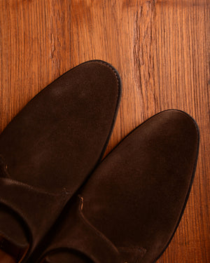 Crockett & Jones Malvern - Dark Brown Suede