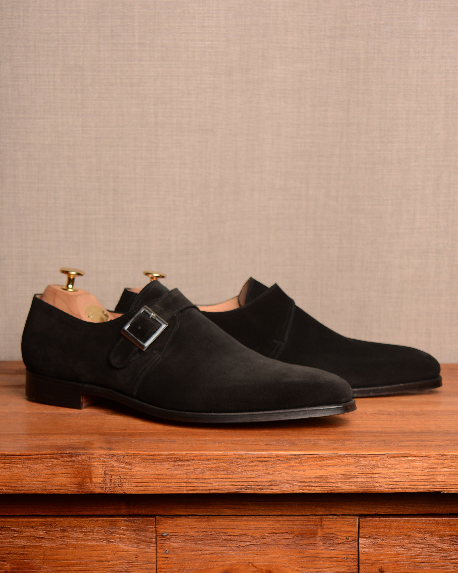 Crockett & Jones Monkton - Black Suede