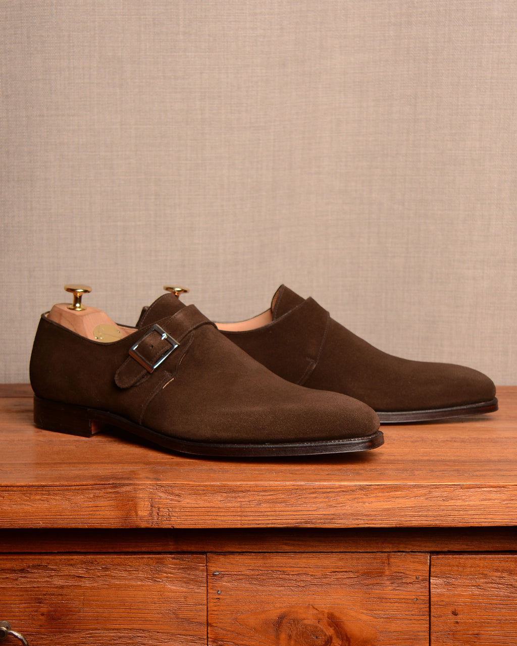 Crockett & Jones Monkton - Espresso Suede