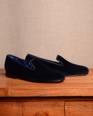 Crockett & Jones Slipper - Navy