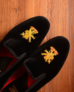 Crockett & Jones Slipper - Rampant Lion