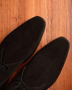 Crockett & Jones Tetbury - Black Suede