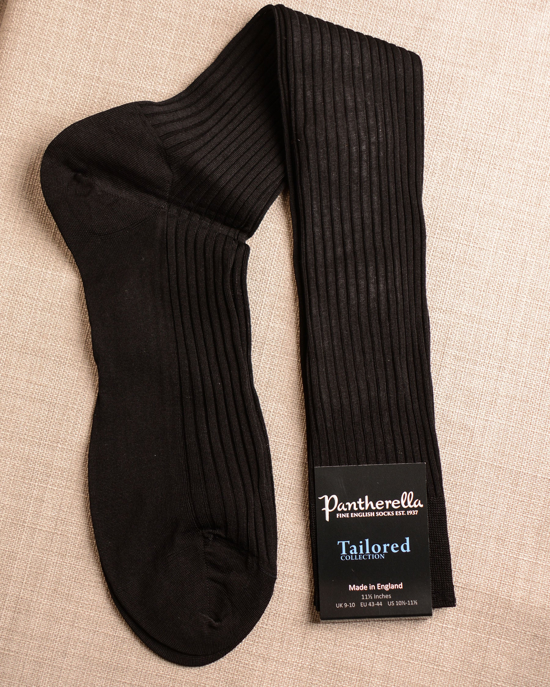 Pantherella Socks - Cotton Black