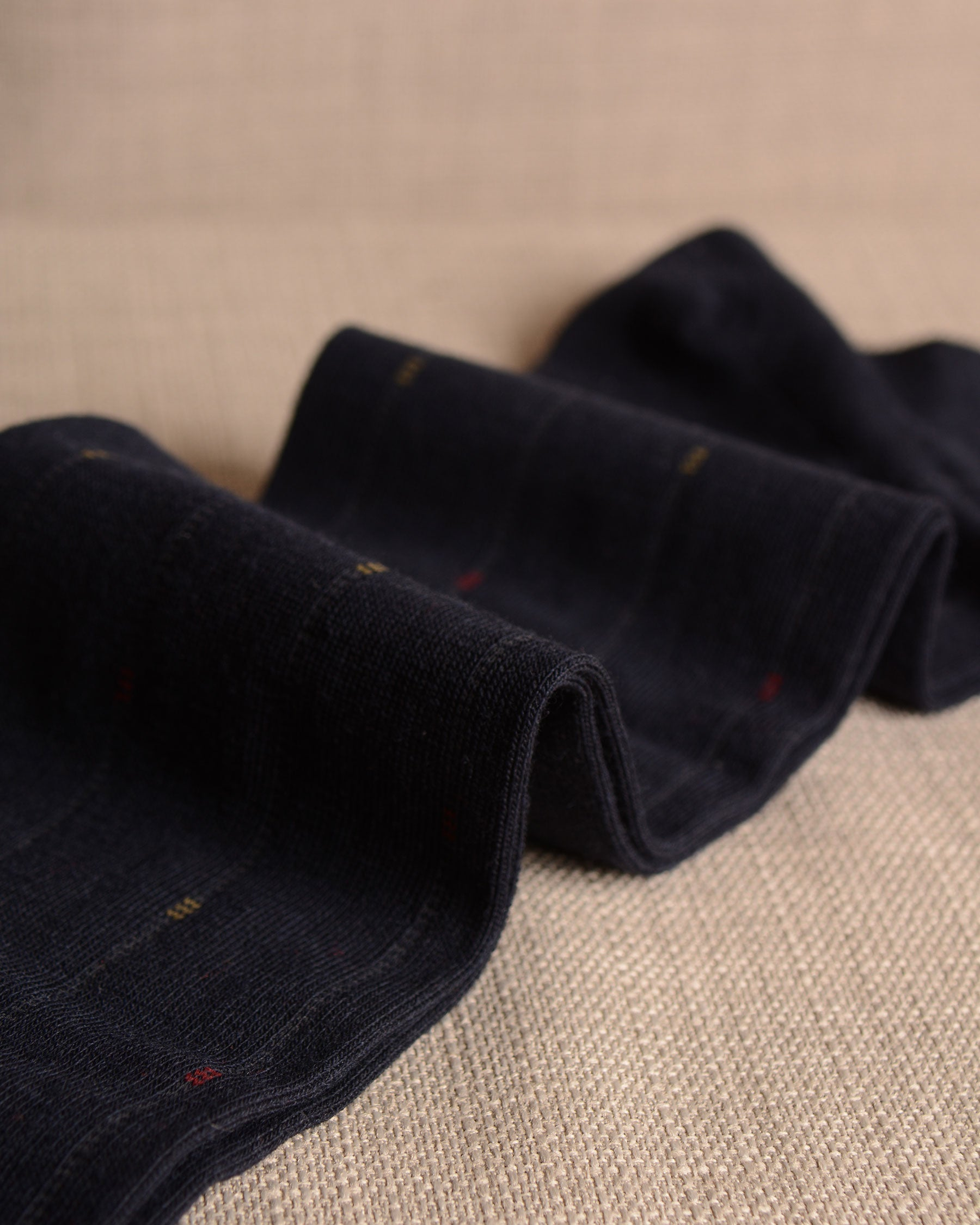 Pantherella Socks - Wool Ghost Stripe Navy
