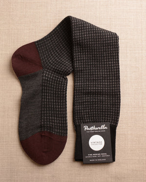 Pantherella Socks - Wool Houndstooth Charcoal