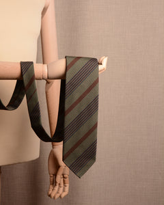 Sevenfold - Tie Brown Multi Stripe