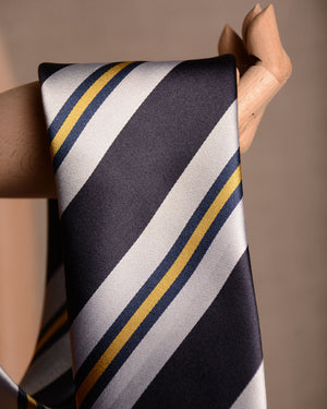 Sevenfold - Tie Block Stripe Navy