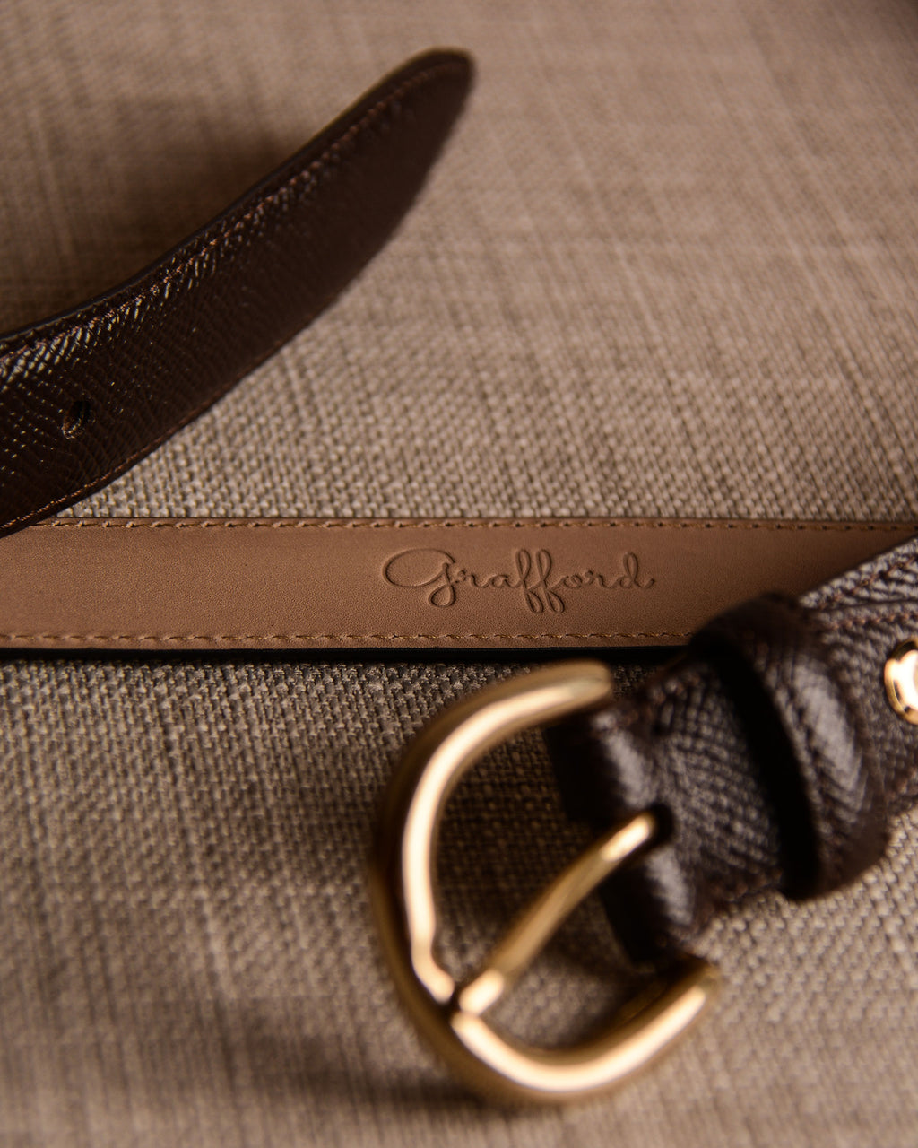 Grafford Leather Goods - Brown Belt