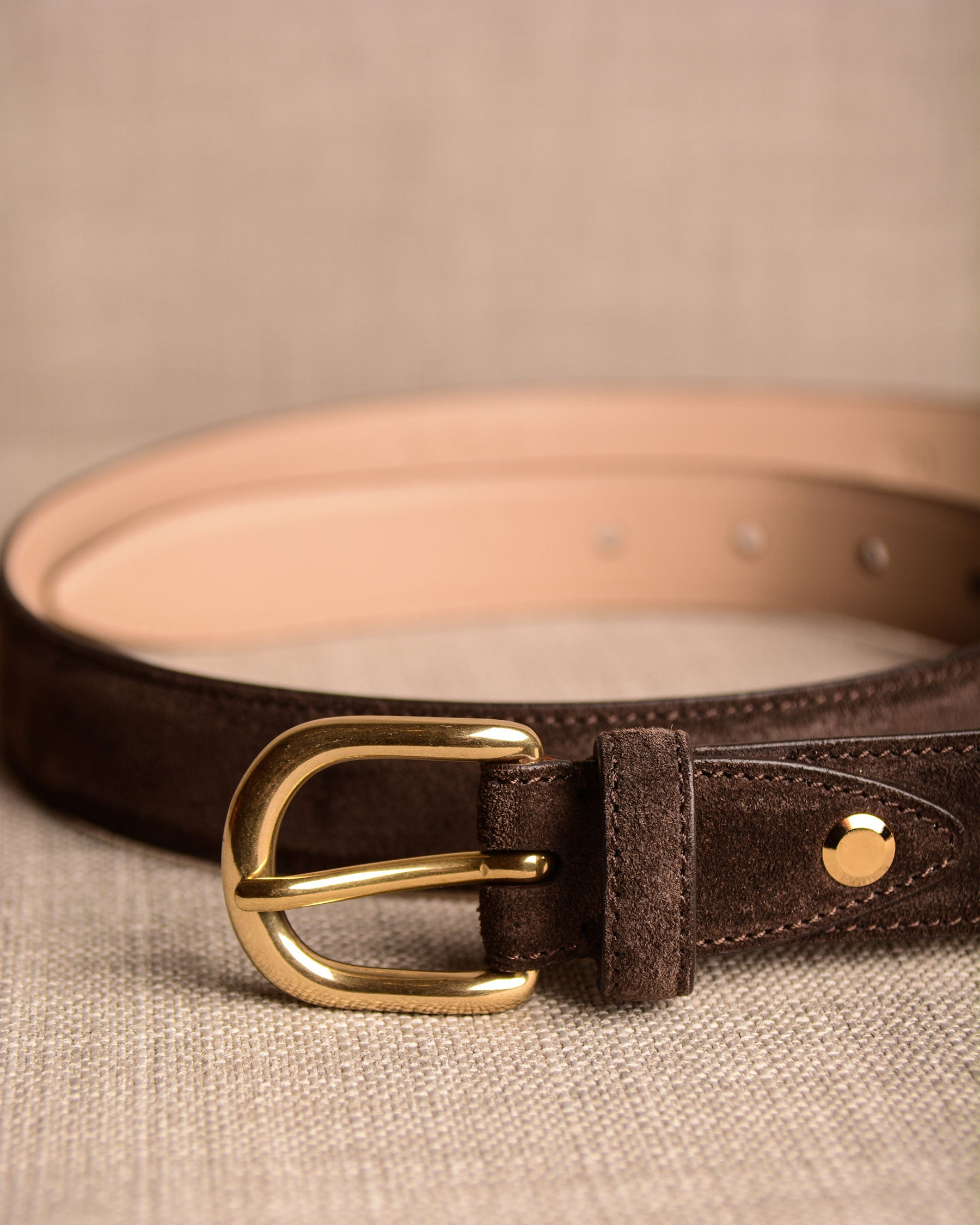 Grafford Leather Goods - Brown Suede Belt