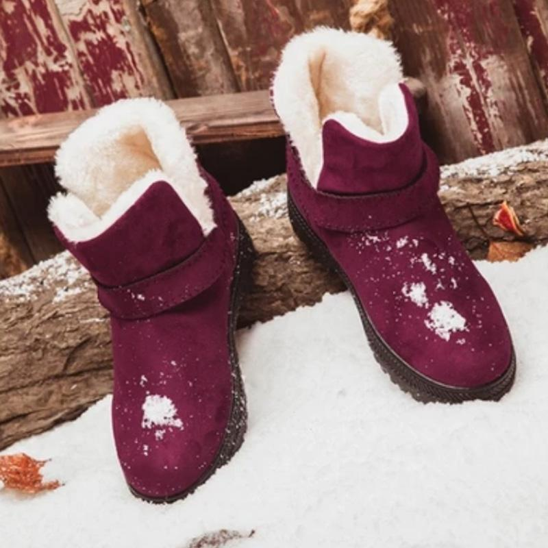Winter Siimple Solid Slip On Snow Boots