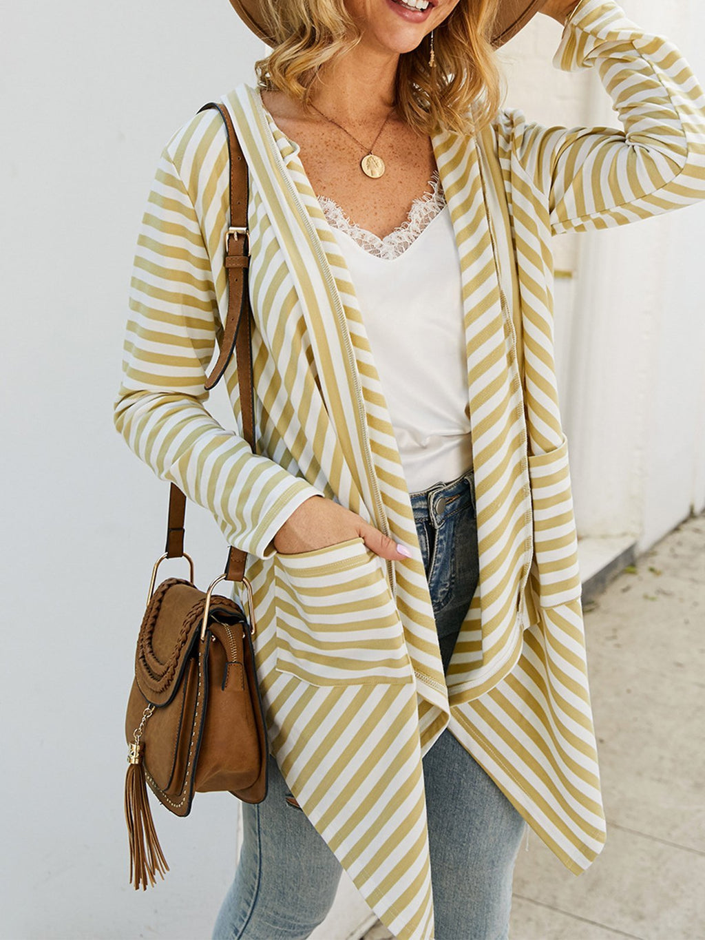 Long Sleeves Striped Cardigan