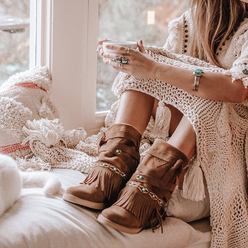 Chic Boho Suede Boots