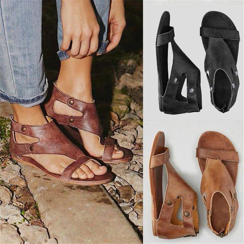 Casual Summer Shoes Womens Gladiator Thong Flat Sandals
