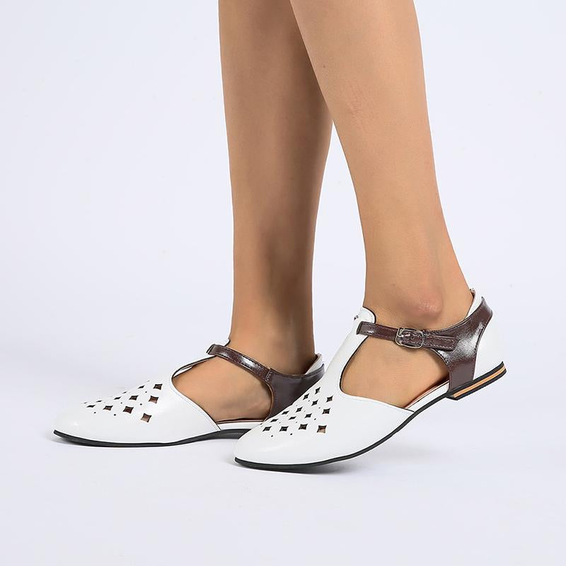 Low Heel Flat Women Hollow-Out Shoes