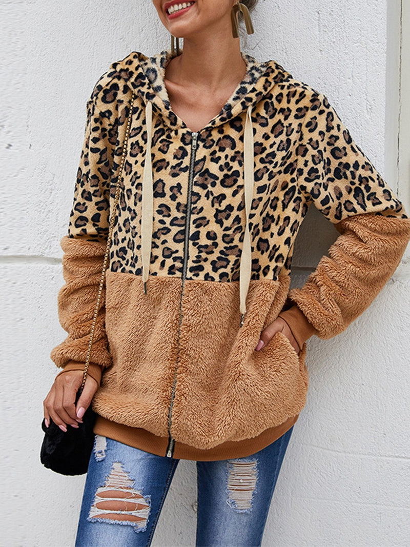 Leopard Print Sewing Coat