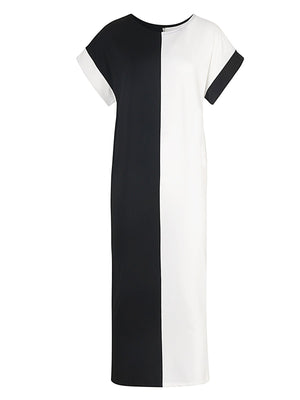 New style Round Neck Midium Sleeve Dress Knit Maxi Dress