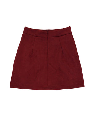 Suede Cross-string Sexy Package Hips Skirt