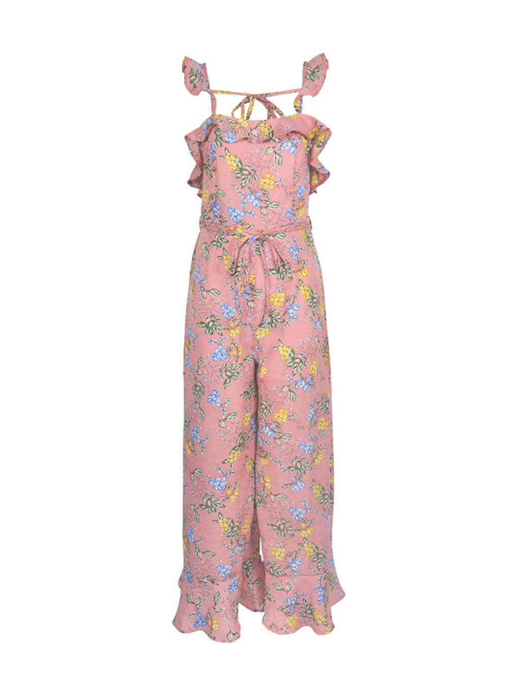 Cute-Women-Floral Wide-legs Jumpsuits
