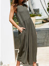 Sexy Backless Slope Yoke Sleeveless Women Jumpsuits