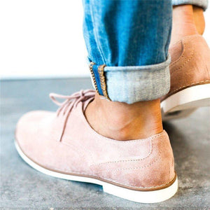 Comfort Lace-up Loafers Low Heel Oxford Shoes