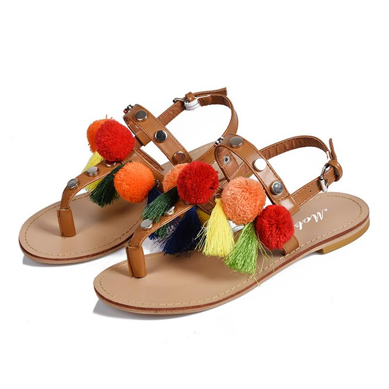 Exotic Fringe Buckle Summer Women Sandals