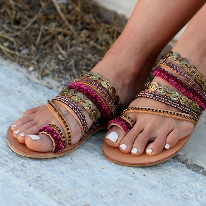 Comfortable Women Shoes Rome Beach Flat Sandals