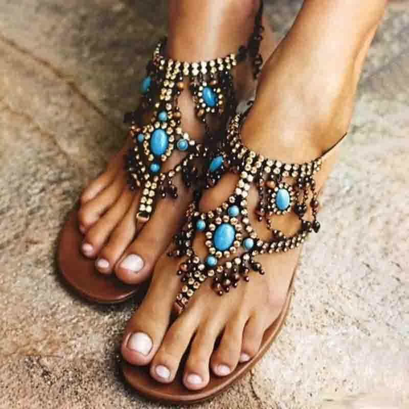 Casual Flip Flops Shoes Women PU Sandals