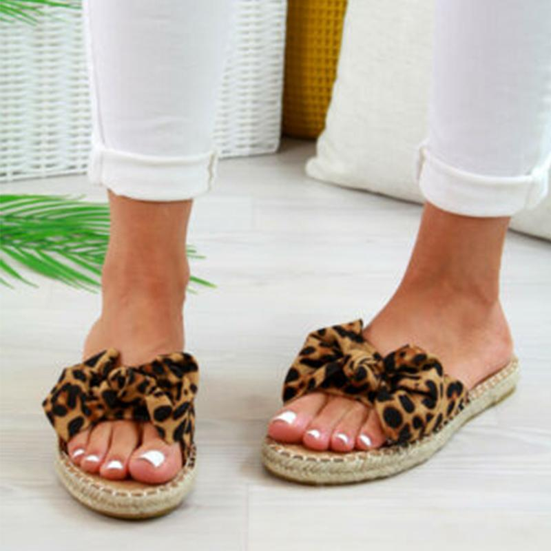 Summer Straw-Weave Platform Bowknot Women Slip-On Sandals