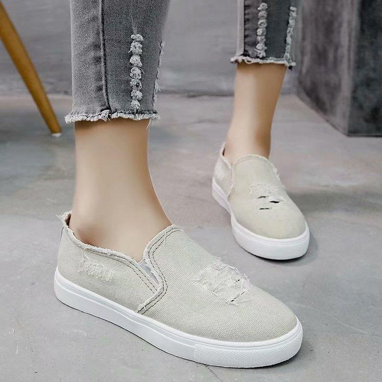 Stylish Chic Washed Denim Students Casual Lofters Flats