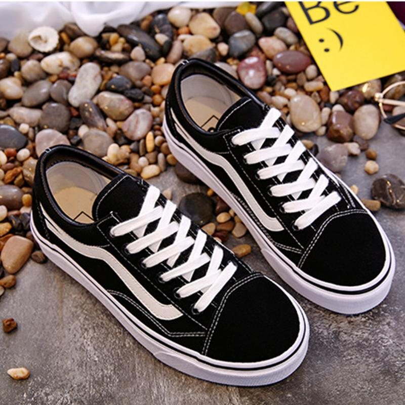 Student Style Color Block Canvas Shoes