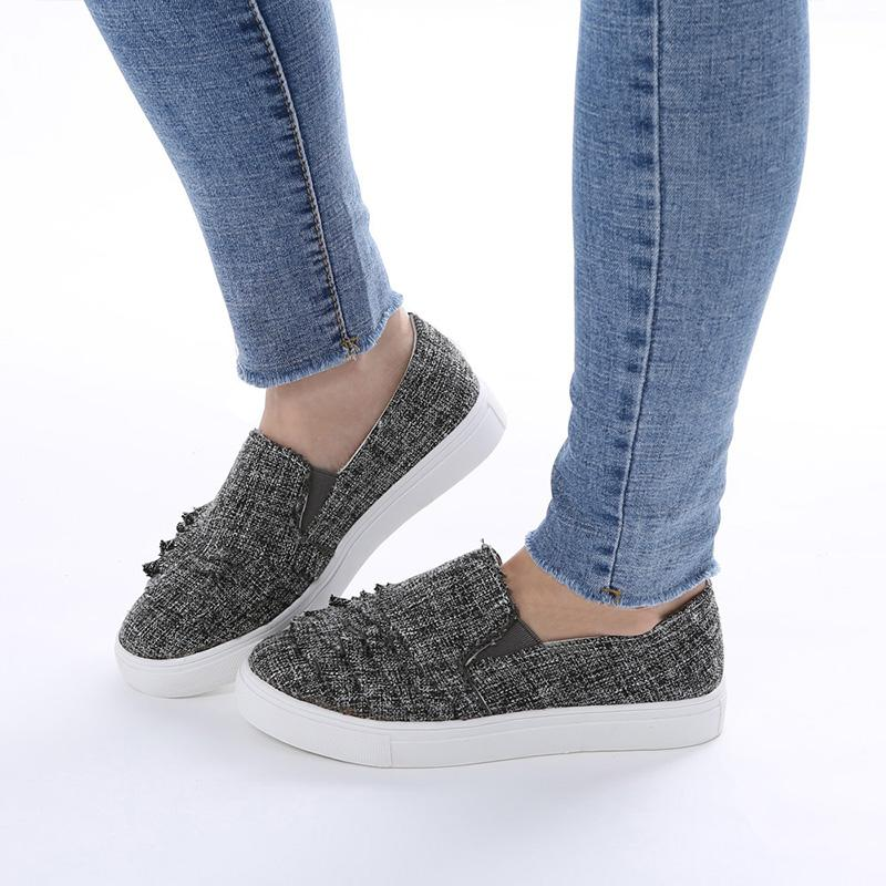 Flat Wace Edge Sliop-on Shoes