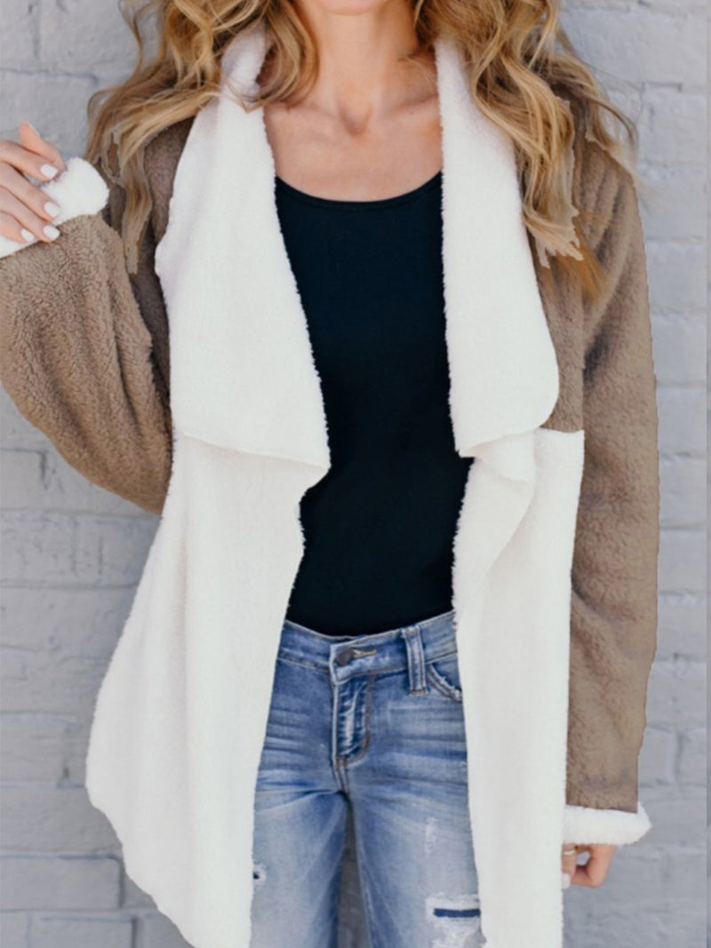 Plain Colors Warm Long Sleeve Jacket