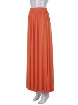 Swing Hem Sweep Solid Maxi Skirt