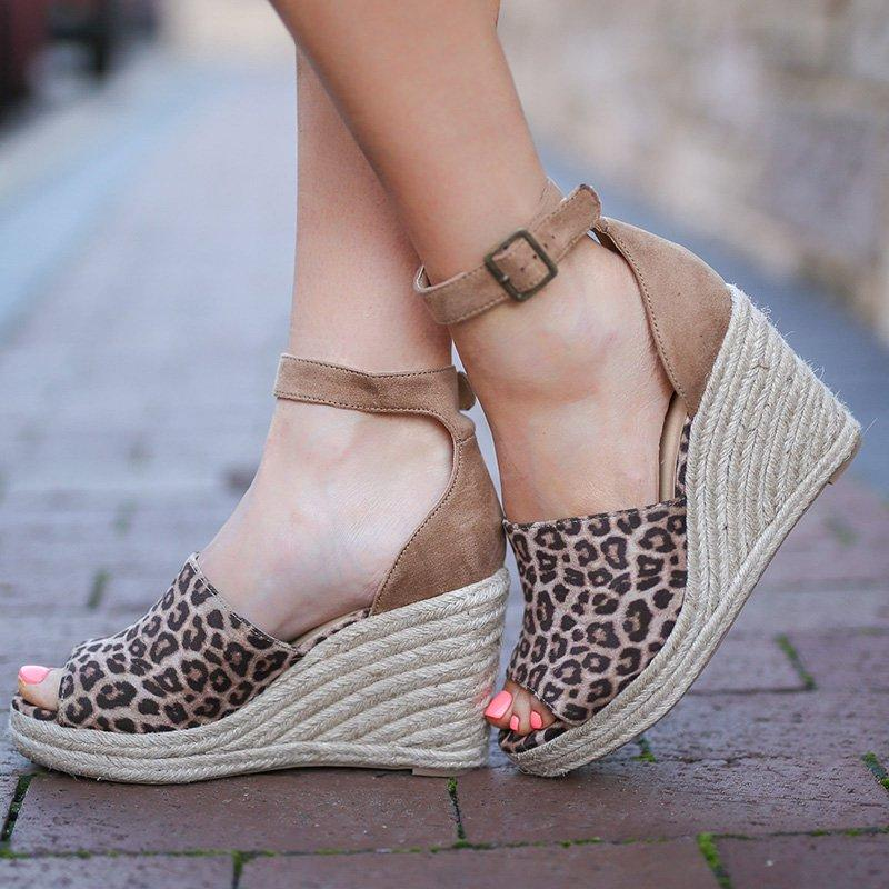 Daily Nubuck Sandals Women Espadrilles Wedges
