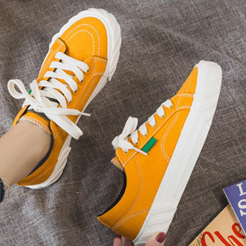 Flat Canvas Classic Gear Platform Casual Studentn Shoes