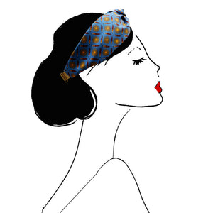 bandeau cheveux accessoire headband mode femme paris vintage look fashion scrunchie bleu jaune rouge motis blue yellow red