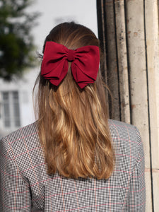 Barrette noeud bordeaux - Camille