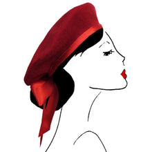 béret cheveux accessoire mode femme paris vintage look fashion scrunchie red rouge
