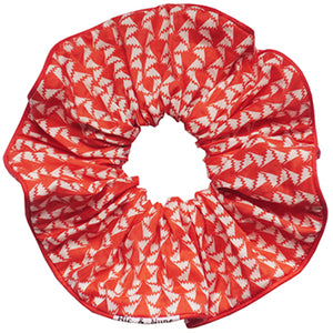 chouchou scrunchie bracelet mode fashion paris femme accessoire cheveux vintage liberty red rouge white blanc