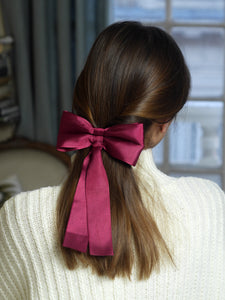 Barrette noeud bordeaux - Adrien