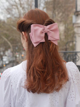 Barrette noeud rose - Hayate