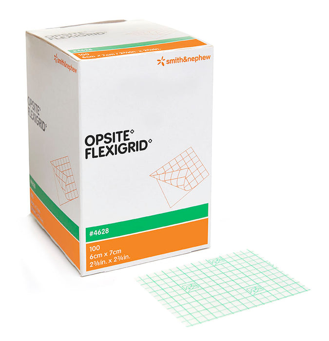 OPSITE™ FLEXIGRID™ Transparent Film Dressing, 10cm x 12cm, Box of 50 - 10cm x 12cm