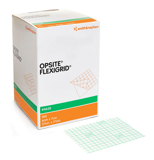 OPSITE™ FLEXIGRID™ Transparent Film Dressing, 6cm x 7cm, Box of 100 - 6cm x 7cm