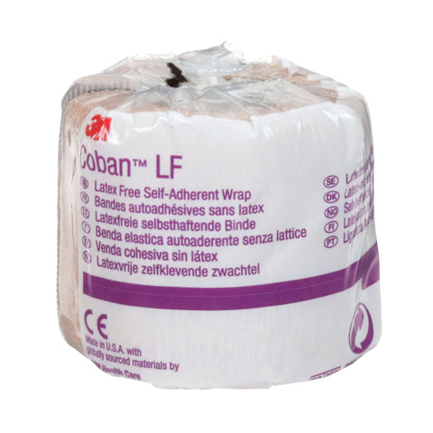 Coban™ Latex Free Self-Adherent Wrap with Hand Tear, non-sterile
