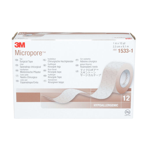 Instride.ca-3M-Wound-Medical Tape-1533-1-Micropore™ Surgical Tape, Box of 12