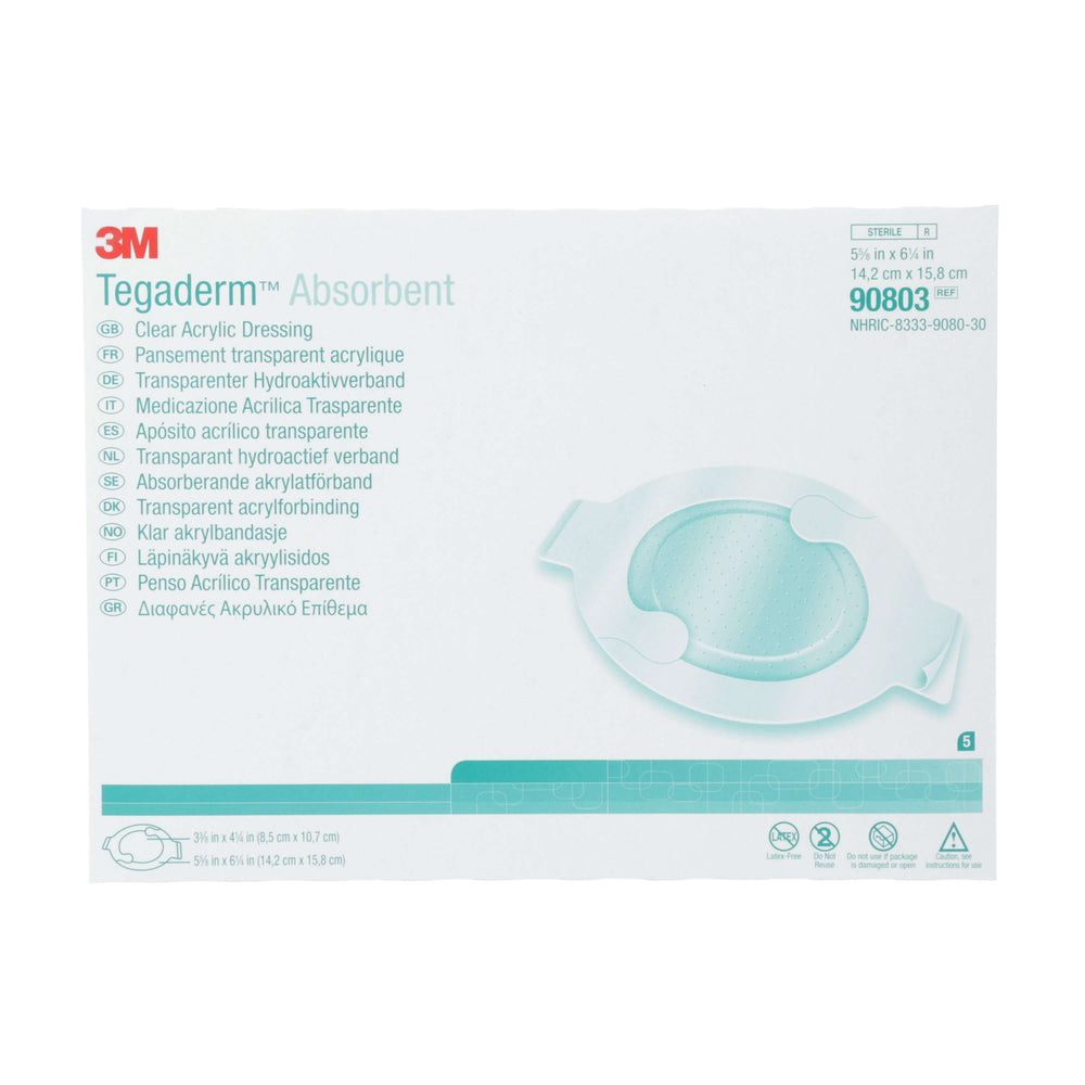 Instride.ca-3M-Wound-Acrylic Dressing-90800-Tegaderm™ Absorbent Clear Acrylic Dressing