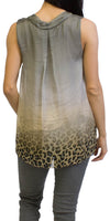 MICAELA LEOPARD SILK TOP