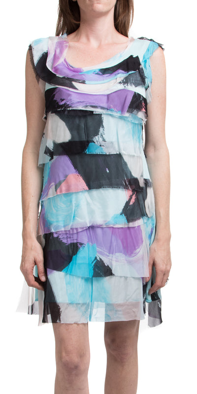 Siena Print Short Dress