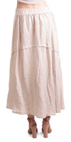 Maxi Linen Skirt With Raw Line