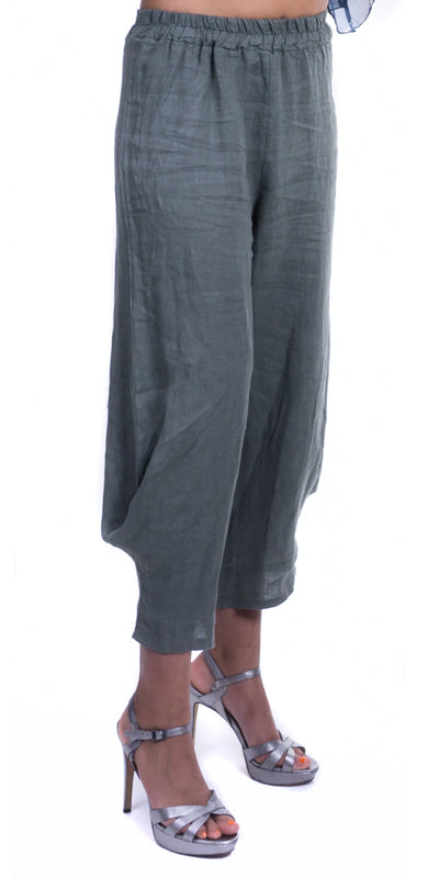 Linen Pant with Elastic Waist Band